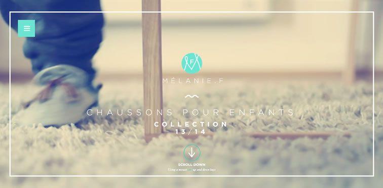 Melanie F portfolio flat web design trend inspiration