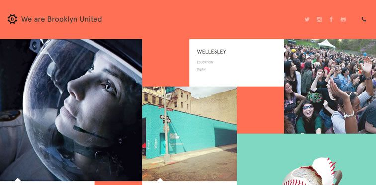 Brooklyn United flat responsive design site