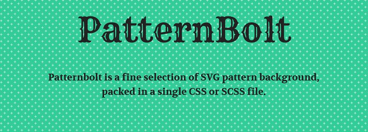 PatternBolt - A selection of SVG pattern backgrounds packed into a single CSS/SCSS file