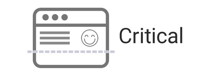 Critical extracts & inlines critical-path (above-the-fold) CSS from HTML