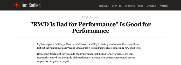 RWD is bad for performance is good for performance by Tim Kadlec