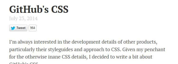 An exploration of GitHub's CSS by Mark Otto
