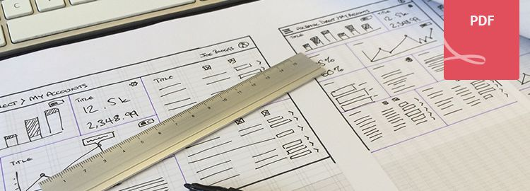 A3 responsive wireframe sketch sheet by David Jakes