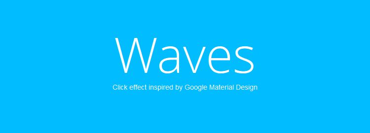 Waves - A library of click effects inspired by Google Material Design