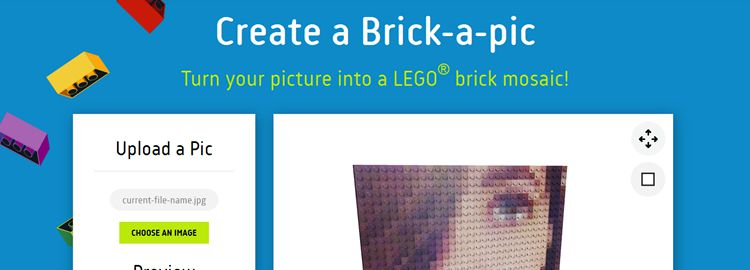 Brickapic - A cool app for turning your profile image into a LEGO brick mosaic