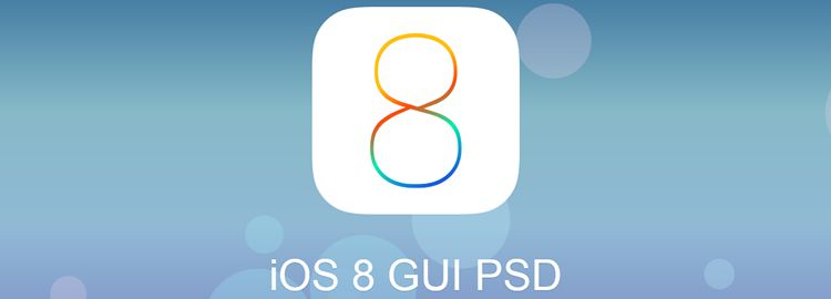 iOS8 free GUI template
