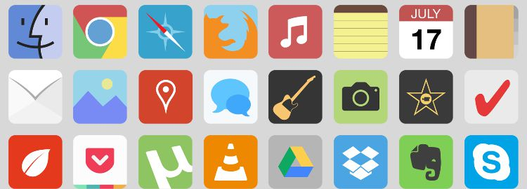 flat.icns - A flat icon set for OS X