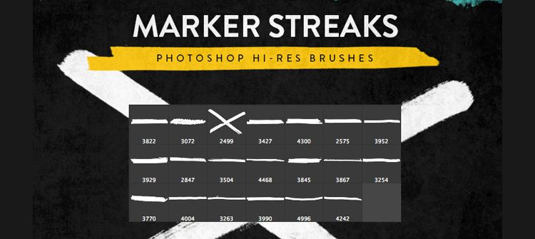 Marker Streak Brushes