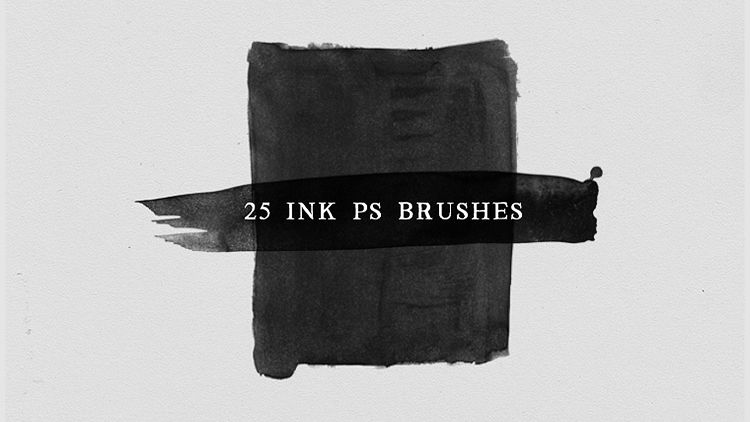 Watercolor and Ink Photoshop Brushes No.3
