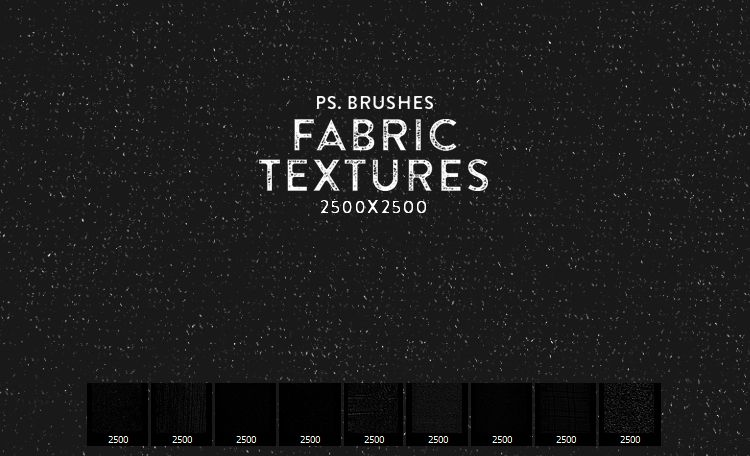High Resolution Fabric Texture Photoshop Brushes