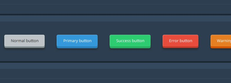 collection of downloadable 3D Flat Buttons css css3 tutorials techniques