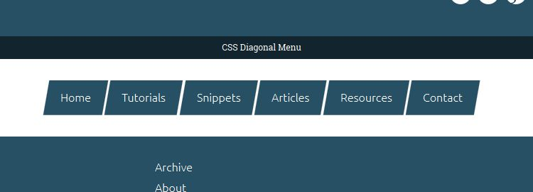 create a diagonal menu css css3 tutorials techniques