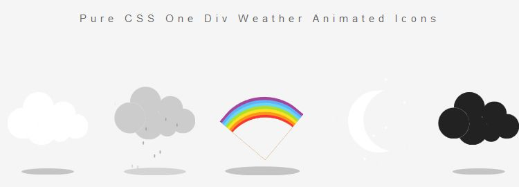 create animated weather icons with pure CSS css3 tutorials techniques
