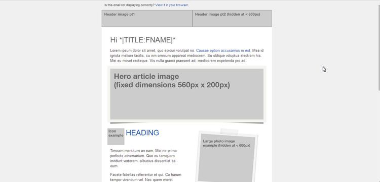 Free Responsive Email And Newsletter Templates - Email table template