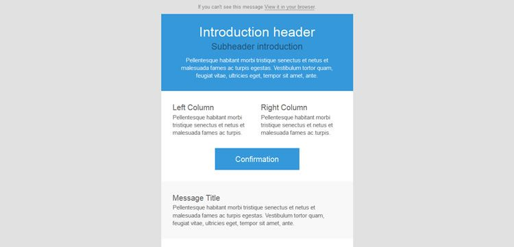 Simple Email Template Geccetackletartsco - Free email templates for gmail