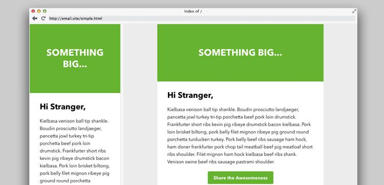 Free Responsive Email And Newsletter Templates - Bootstrap newsletter template