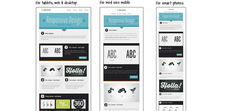 responsive email template from email on acid free predesigned - Free Email Newsletter Templates