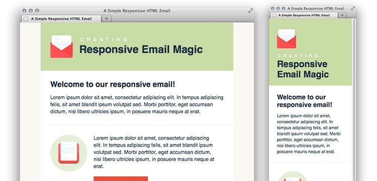 Free Responsive Email And Newsletter Templates - Outlook html email template