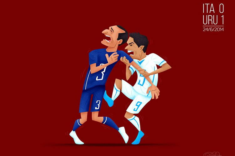 Memorable World Cup Moments Illustration Series