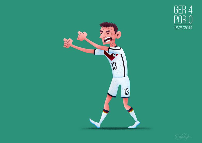 Thomas Muller scored the first hat-trick of the 2014 World Cup portugal