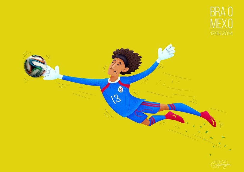 The Great Wall of Mexico held Brazil to a goalless draw with an outstanding performance by goalkeeper Guillermo Ochoa
