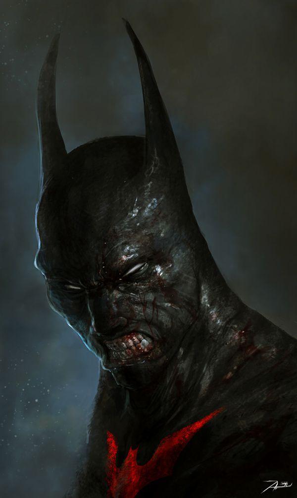 batman dark illustration haunted