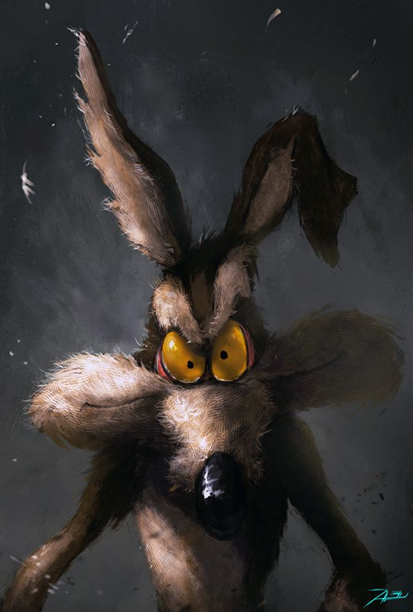 Looney Toons characters dark illustration haunted