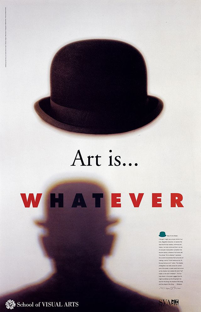 School of Visual Arts poster, 1996
