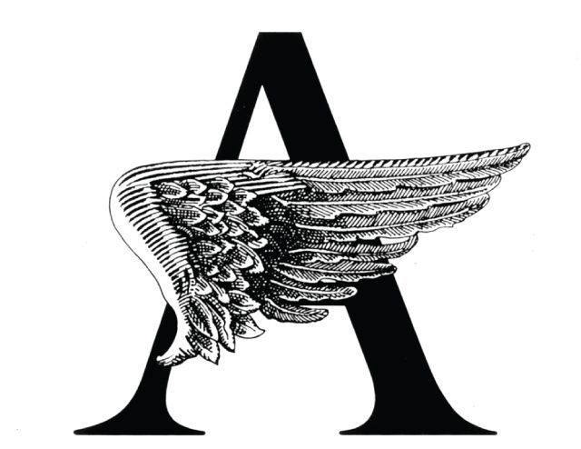 Logo for the play Angels in America, 1993