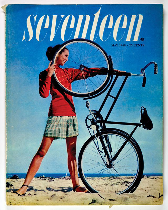 Cipe Pineles Seventeen cover, photographed by Francesco Scavullo, 1948