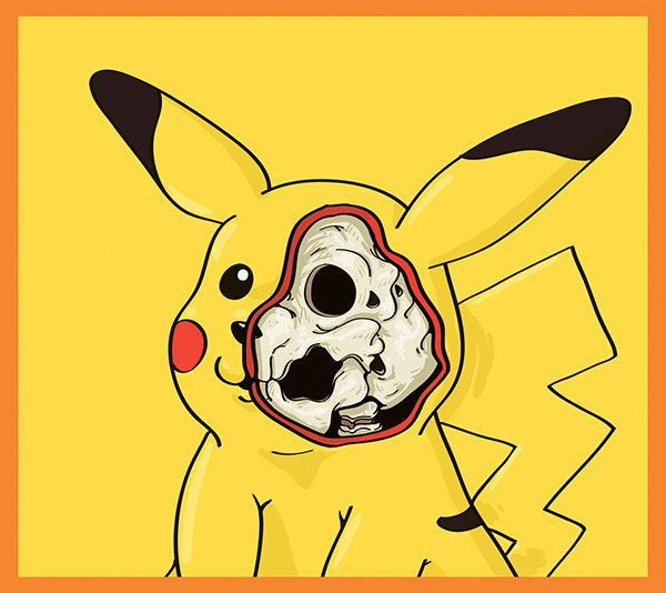 dissected illustrations Pikachu pokemon