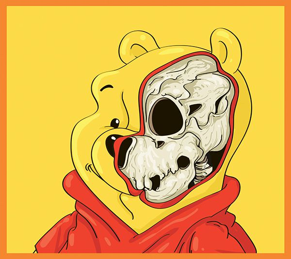dissected illustrations winnie the pooh