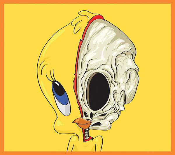 dissected illustrations tweety pie