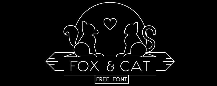 Fox & Cat Typeface free font Free Resources