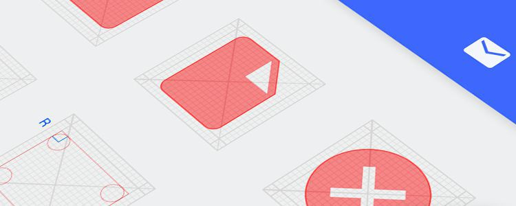 Android L Icon Grid Template psd