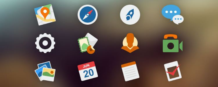 OS X Yosemite Inspired Replacement Dock Icons