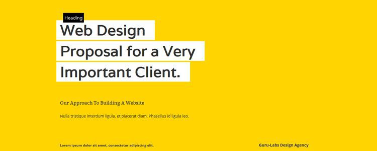 Proposal Web Template html