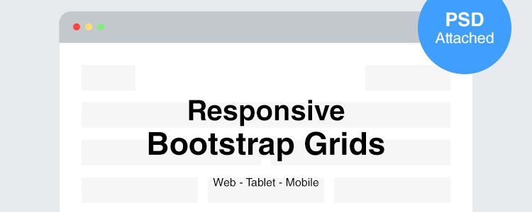 Responsive Bootstrap Grids PSD