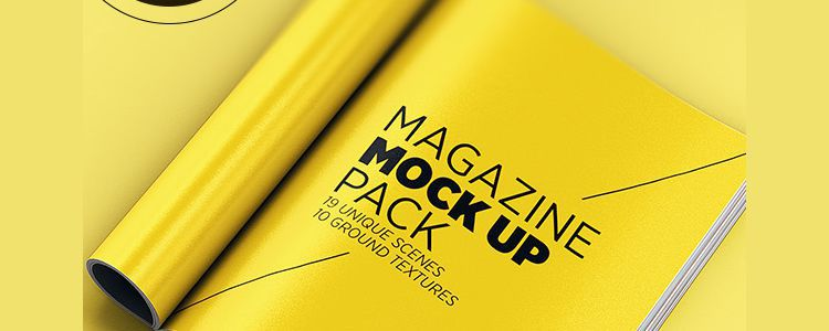 Magazine Mock Up Pack psd