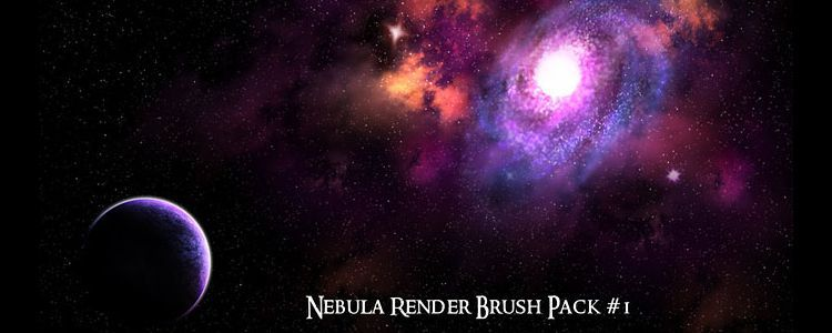 High-Res Nebula Galaxies & Star Photoshop Brushes