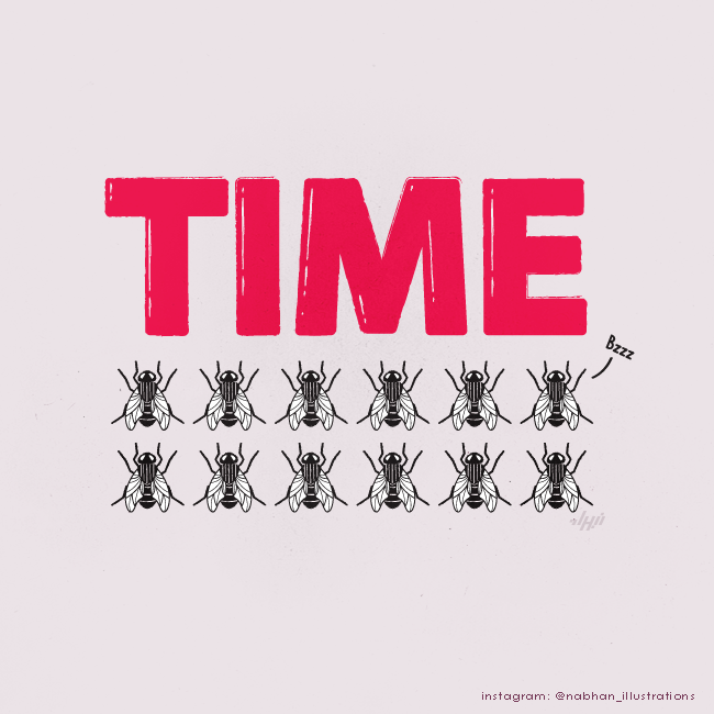 clever illustration series Time Flies