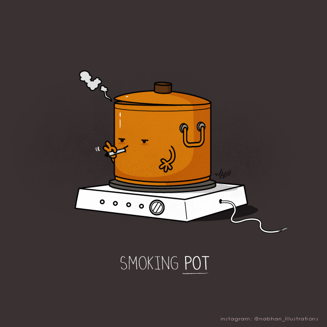 clever illustrations Smoking Pot