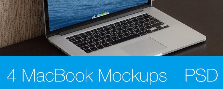 MacBook Pro Retina 15 Mockup PSD