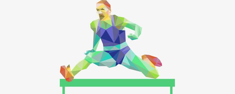 Colorful Low-Poly Sport Templates ai eps