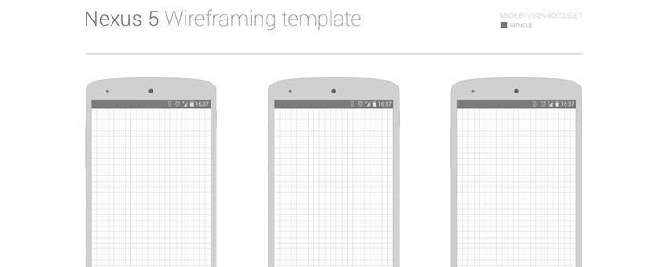 Nexus 5 Wireframing Template