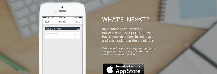 Next - A free iOS app that helps designers manage their deadlines
