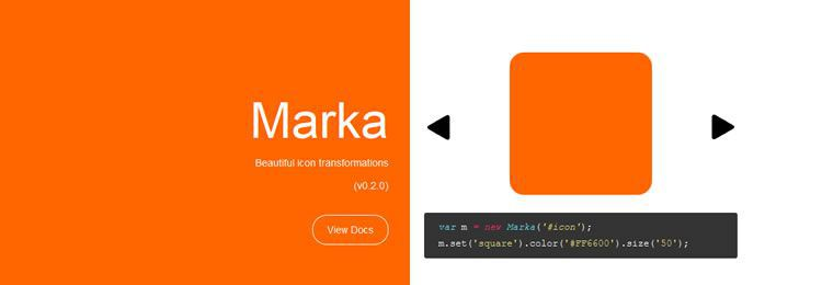 Marka - A transformable icon to work on the web