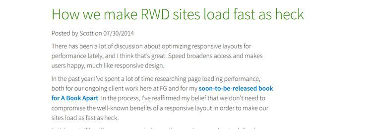 How we make RWD sites load fast as heck