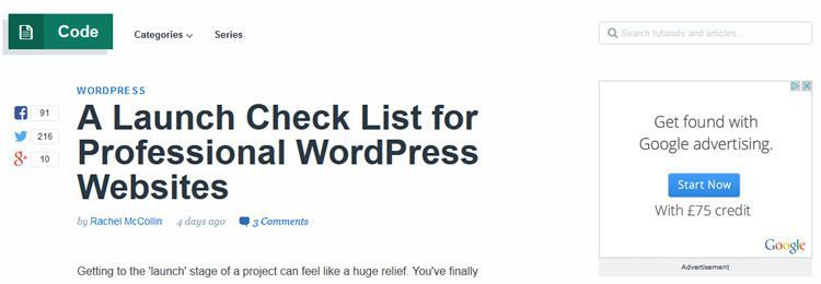 A Launch Check List for Professional WordPress Websites