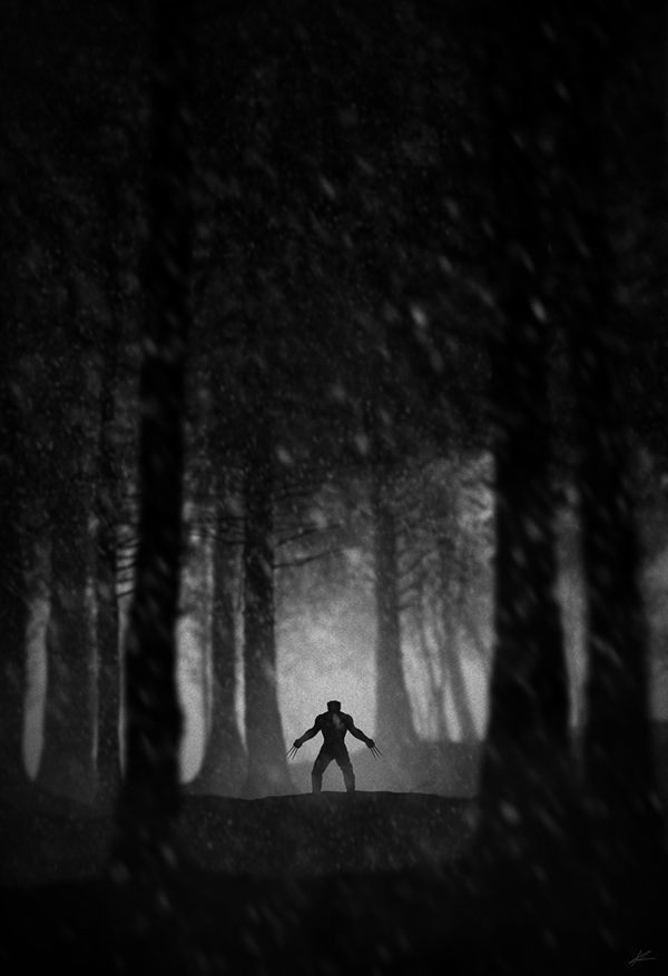 dark illustration photography Wolverine